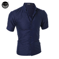 Men Short Sleeve Shirt Chemise Homme Men Shirt Camisas Hombre Vestir Mens Dress Shirts Hawaiian Camisa Social Masculina XXXL