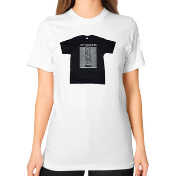 Joy Division - Unknown Pleasures Unisex T-Shirt (on woman)