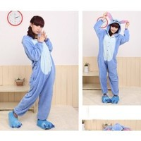 Cosplay Halloween Unisex costume Kigurumi Pajamas Sleepwear stitch L
