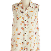 Sucker for Sweets Top | Mod Retro Vintage Short Sleeve Shirts | ModCloth.com