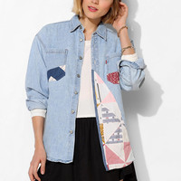 Urban Renewal Quilted Denim Shirt - Urban Outfitters