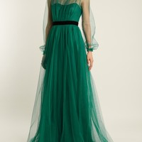 Open-back tulle gown   No. 21   MATCHESFASHION.COM US