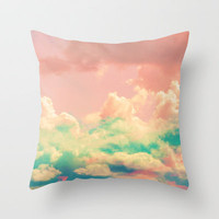 Candy Mountains Throw Pillow by Caleb Troy | Society6