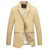 Men's Casual Patchwork Blazer