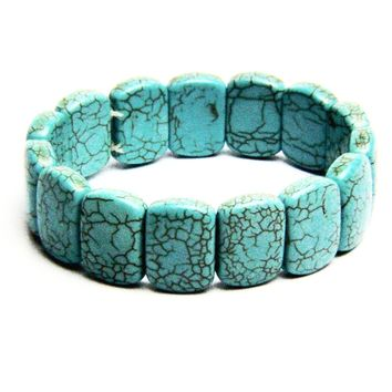 Turquoise Natural Stone Stretch Bracelet