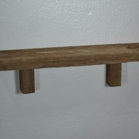 Reclaimed wood wall shelf 22 wide 4 deep