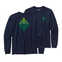 Patagonia Men's Long-Sleeved Alpine Cone Cotton T-Shirt | Fatigue Green