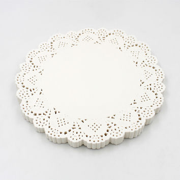 360pcs/pack White Lace Paper Doilies Placemat Table Decoration Round Baking Paper Mat For Cake Cookie