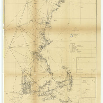 Sketch A Showing The Progress Of The Survey In Section Number 1 From 1844 To 1868 With Sub Sketch Showing The Position Of Davis' Shoal?