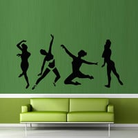 Wall decal art decor decals sticker bedroom design mural dancing ballet hall training yoga dancer (m907)