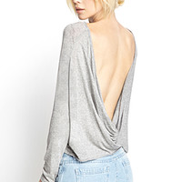 Cowl Back Knit Top