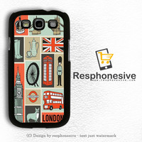 London Collage Art Samsung Galaxy S3 Case