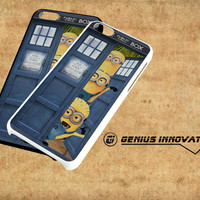 Despicable Me Minion Spiderman In Dr Who Tardis Call Box Samsung Galaxy S3 S4 S5 Note 3 , iPhone 4(S) 5(S) 5c 6 Plus , iPod 4 5 case