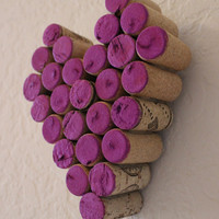Wine Cork Purple Heart Valentine Wall Decor Gift