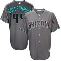 Men's Arizona Diamondbacks Paul Goldschmidt Majestic Gray/Turquoise 2017 Cool Base Jersey