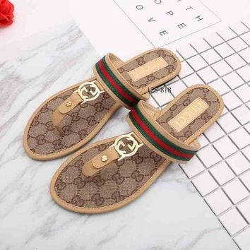 UCANUJ3V Gucci Women Fashion Casual Slipper Shoes-2