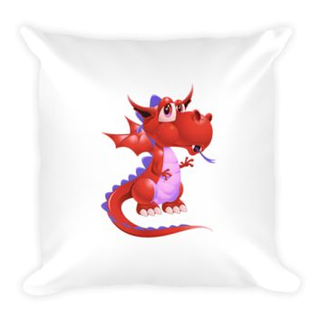 Draco Red Pillow