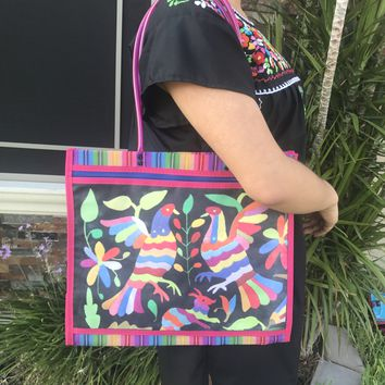Mexican Otomi Shopping Mesh Tote Bag