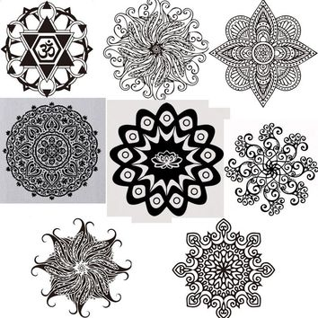hot selling Buddhism India Mandala wall stickers Namaste India removable creative vinyl wallpaper mural home decoration