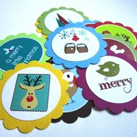 Owl and Other Nature Critters Christmas Holiday Gift Tags