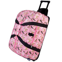 Horses in Pink Rolling Duffel Bag - 51020