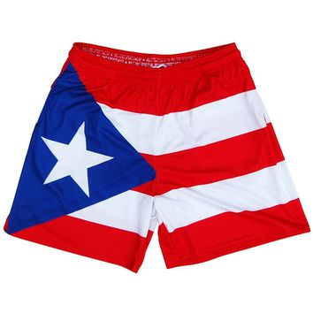 Puerto Rico Flag Athletic Shorts