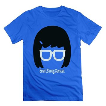 MAT Q VO Men's Bobs Burgers Tina Smart Strong Sensual T Shirts/Tee