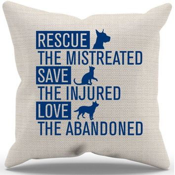 Rescue Animals Pillow Case