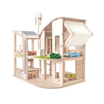 Green Dollhouse with Furniture by PlanToys