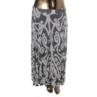 INC Womens Plus Printed Knit Maxi Skirt