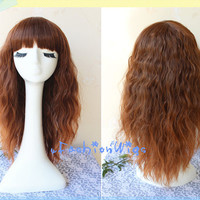 60cm Long Multi Ombre Color Beautiful Lolita Brown Cosplay Wigs, Anime Wig, Costume Wigs for Party UF025
