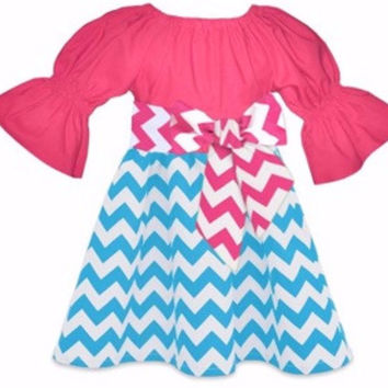 The Ellie Chevron Boutique Dress