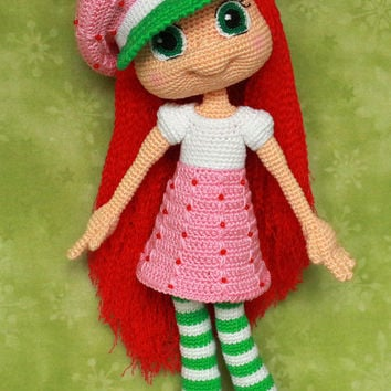 Strawberry Shortcake - Handmade crochet doll