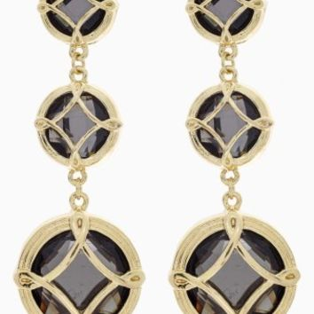 Black-Gold-Tiered-Drop-Earrings