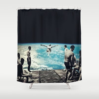 LSD SPACE  Shower Curtain by Maioriz Home