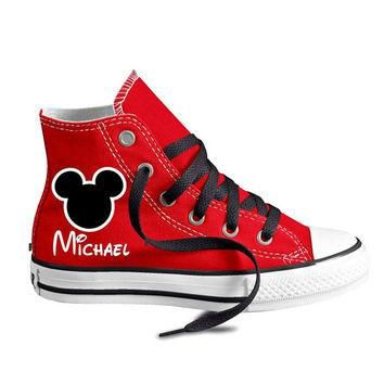 Personalized Infant and Kids Custom Mouse Ears High Top Converse Shoes