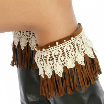BOOTH CUFF Crochet boot cuff with buttons LEG warmers