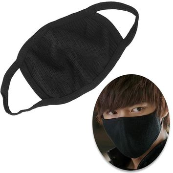 1 Pc Black Health Cycling Anti-Dust Mouth Face Mask Respirator Unisex Fashion Kpop Mouth-Muffle Face Masks#ZH297
