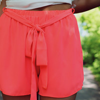 Beach Bum Shorts - Dark Coral