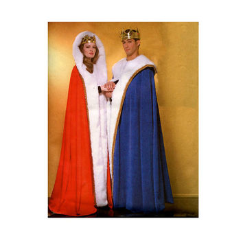 Unisex Adult Mens Womens Hooded CLOAKS CAPES Reenactment Costume Historical Royalty Size XSm Sm Med Lrg Butterick 4316 UNCUT Sewing Patterns