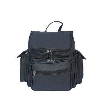 Unisex Soft Leather Backpack - 3 Colors