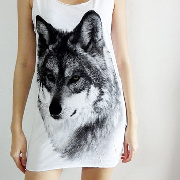 Wolf Wolves Animal Punk Rock Art Street by SoYouThinkYouCanRock