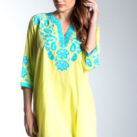 Tobay Beach Cover Up - Yellow