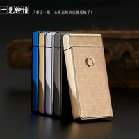 Hot Classic Brand Pulsed Arc lighter USB charging Windproof Lighters electronic cigarette lighter Men Gifts Lighters box-JL301