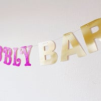 Bubbly Bar - Bubbly Bar Sign Banner - Mimosa Bar -Bridal Shower Banner Decor -Bachelorette Party Decoration -Engagement Party -Bridal Shower