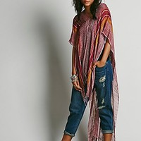 Free People Womens Highs and Lows Poncho