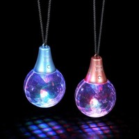 Disco Prism Ball LED Multicolor Pendant Necklace