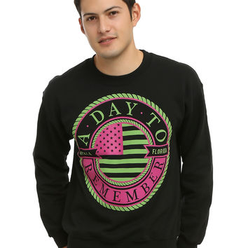 A Day To Remember Neon Nautical Logo Sweatshirt