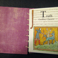 Artists hand made book, Chaucers poem 'Truth' Mini