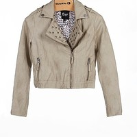 Girls-B Hip Faux Leather Jacket